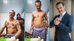 Jorge Poza muestra paso a paso cómo oculta sus tatuajes para su papel en 'Oscuro Deseo'
