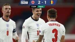 Inglaterra vence a Bélgica con voltereta en Wembley