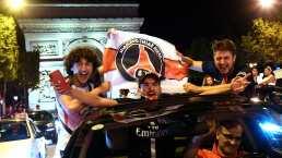 Frenéticos festejos en París tras triunfo del PSG