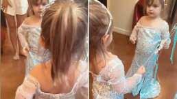 Kailani no se quiere quitar por nada del mundo su vestido de 'Frozen': 'No me voy a poner la pijama'