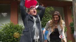 Elenco de Mi corazón es tuyo cumple reto Ice Bucket Challenge
