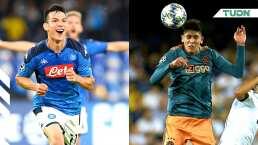 Números de 'Chucky' Lozano y Edson Álvarez en la Champions League
