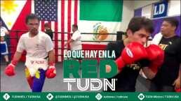 ¡Family goals! Pacquiao y su hijo entrenan en el mismo ring