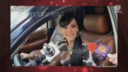 Con Permiso: ¡Se fue de largo! Maribel Guardia choca su camioneta contra plumas de estacionamiento