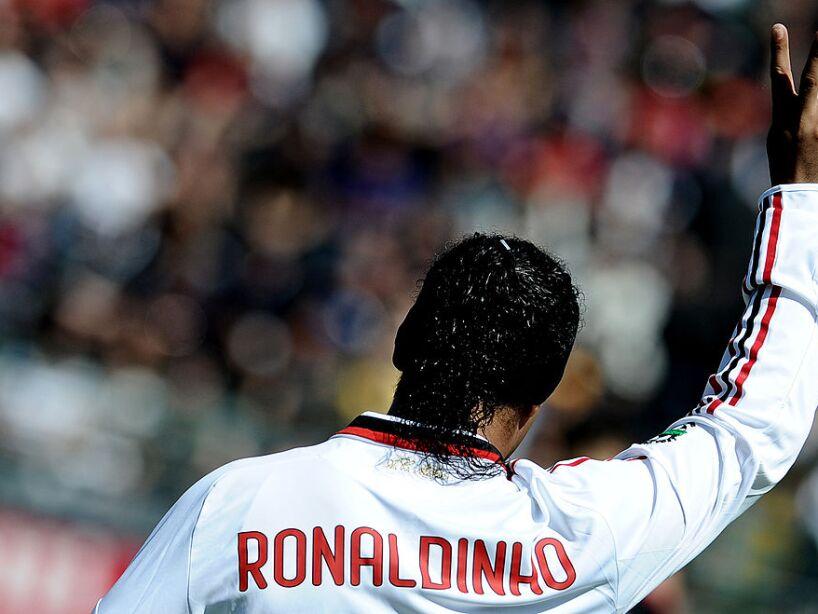 AC Milan's Brasilian forward Ronaldinho