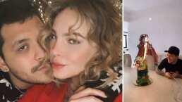 Belinda no se separó de Christian Nodal en su cumpleaños y le cantó 'Las Mañanitas'