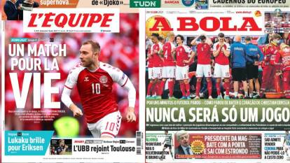 Así reacciona el mundo deportivo tras el desvanecimiento de Christian Eriksen en el Dinamarca-Finlandia en la Eurocopa 2020.