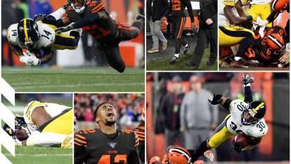 Cuatro intercepciones, las lesiones de James Conner y JuJu Smith-Schuster y una locura al final. Así la victoria de los Browns 7-21.