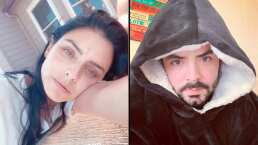 Video: José Eduardo se mete en 'pijama' a la alberca y Aislinn Derbez fue su testigo
