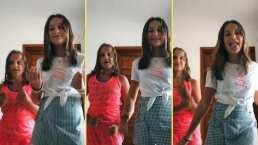 Elissa, hija de Geraldine Bazán y Gabriel Soto, se divierte bailando con su prima