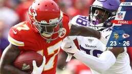 Minnesota Vikings 23- 26 Kansas City Chiefs – Resumen – Week 9 – NFL