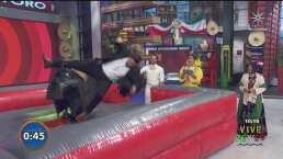 """""""Me pegue"""": Paul Stanley sufre dolorosa caída al subirse al toro mecánico"""