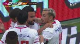 ¡Celebra el Diablo! Alexis Canelo convierte el 1-0 de penal