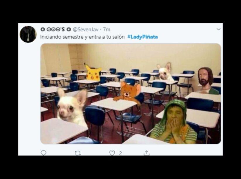 historia de Lady Piñata en memes,