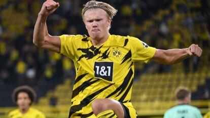 Dortmund debutó en la Bundesliga goleando al Möenchengladbach | Con doblete de Haaland y otro de Reyna, se impusieron 3-0 ante casi 10 mil aficionados en el estadio.
