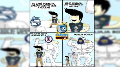 Pumas y Cruz Azul bajan de posición al América y estos son los memes de la Jornada 9 de la Liga MX del torneo Guard1anes 2020.