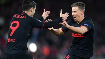 Marcos Llorente y Alvaro Morata anotaron los goles para el pase del Atlético de Madrid a los Cuartos de Final.