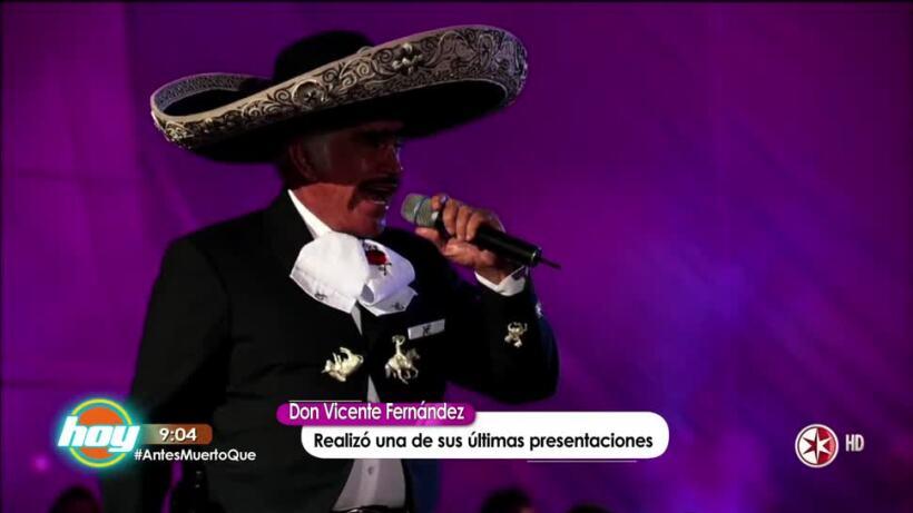Vicente Fernández se siente parte del Ejército