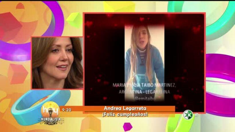 Felicitaciones para Andrea Legarreta