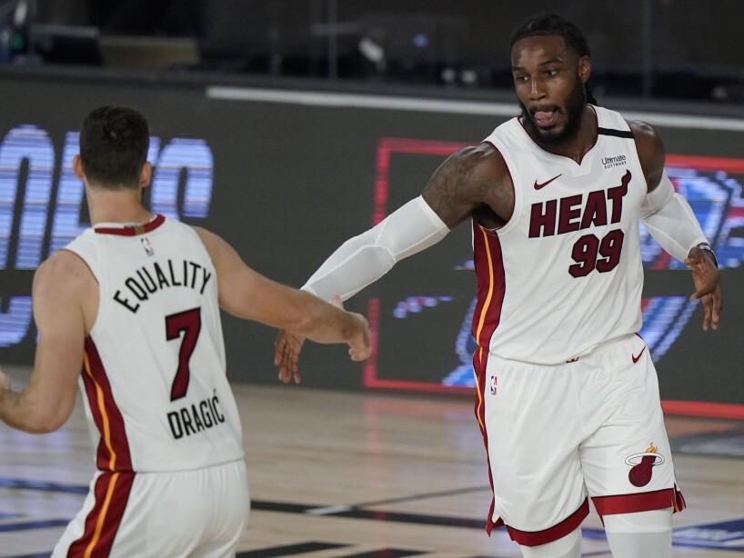 APTOPIX Heat Bucks Basketball