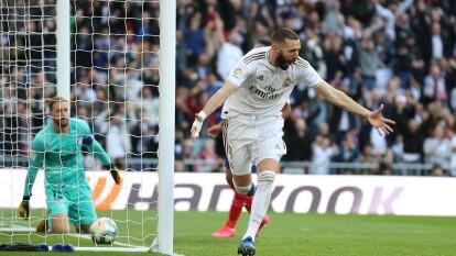 Los de Zidane se impusieron por la mínima en el Santiago Bernabéu. Real Madrid llegó a 49 unidades tras 22 partidos disputados en La Liga. Karim Benzema anotó al 56'.