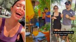 Ángela Aguilar cacha a sus hermanos grabando un tiktok y no se aguantó la risa al verlos bailar