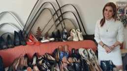 Por primera vez, Andy Escalona muestra la costosa colección de zapatos de Magda Rodríguez