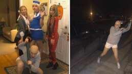 Los amigos que se inspiraron en Britney Spears para festejar Halloween