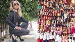 Sherlyn podría abrir una zapatería completa con todos los zapatos que tiene