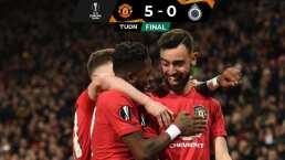 El Manchester United golea al Brujas y avanza en Europa League