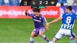 Lainez y Guardado participan en empate con sabor a victoria del Betis