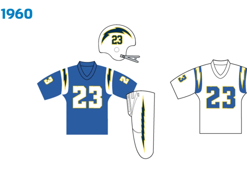 Uniforme Chargers 1960.png