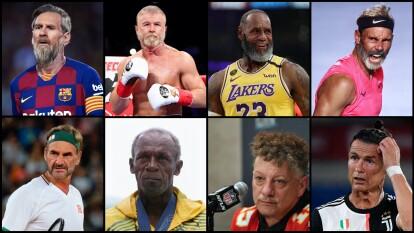 Dentro de unos años, estos deportistas no estarán compitiendo por ser los mejores, ya serán unas leyendas y aquí te mostramos un posible 'look para el futuro.