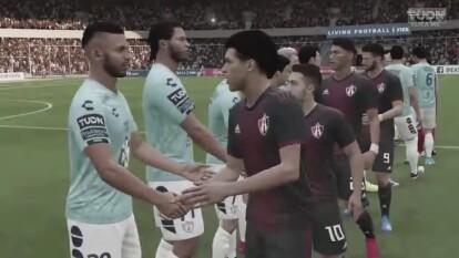 Diego Barbosa le dió unas clases de FIFA y goleó 3-0 al jugador del Pachuca Romario Ibarra.