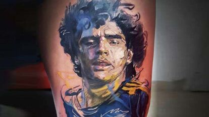Diego Armando Maradona es el mejor jugador de la historia del futbol y el deportista más reconocido en Argentina; por ello, es también el más tatuado entre sus seguidores.