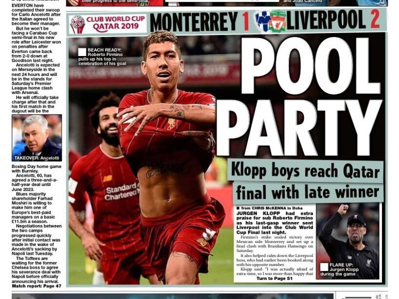 La prensa resalta el tardío triunfo de los campeones de Europa en las semifinales; se medirán al Flamengo en la final del Mundial de Clubes
