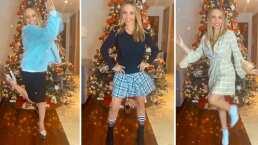 Erika Zaba protagoniza un divertido video para que la ayuden a elegir su outfit de Navidad