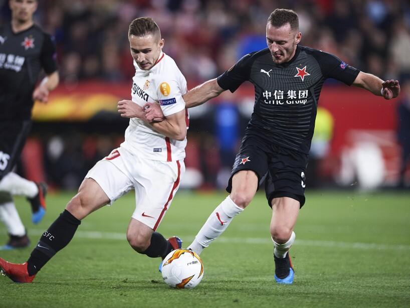 Sevilla v Slavia Prague - UEFA Europa League Round of 16: First Leg