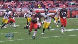 ¡Nadie detiene a Chubb! Nick perfora a la defensiva de Steelers
