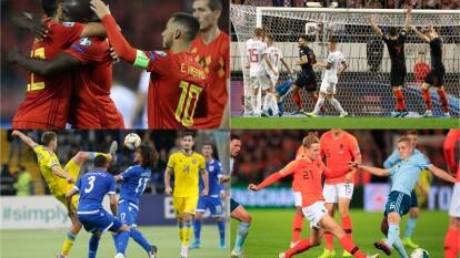 Revive los partidos de la jornada 7 de las eliminatorias rumbo a la Euro 2020.