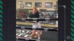 Hijo de Andy Ruiz baila con Canelo en el ring