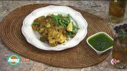 Cocina delicioso y saludable: Steaks de coliflor con curry y arroz