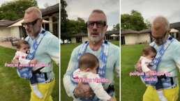 Gianluca Vacchi le habla de amor a su bebita y conmueven con tierna plática de padre a hija