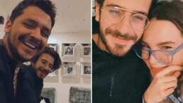 'Mis dos niños hermosos': Así disfruta Belinda de la compañía de su novio y su hermano (VIDEO)
