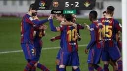 Messi empezó de suplente y tras ingresar desató goleada sobre Betis