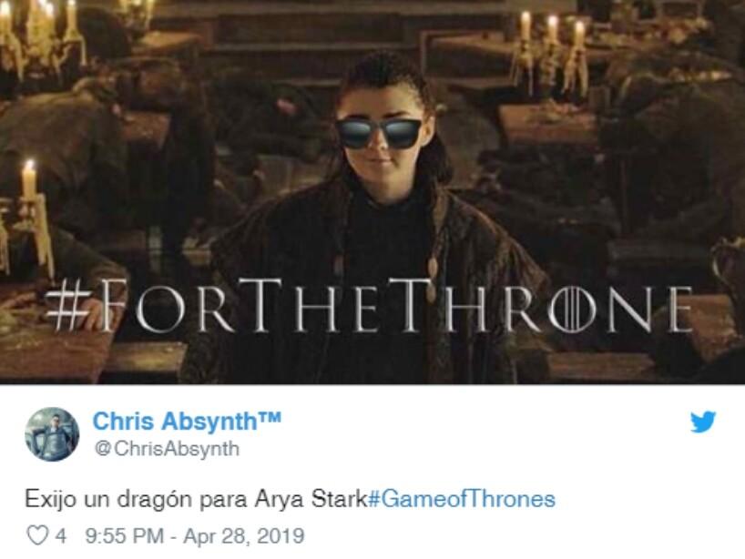 Arya Stark Memes, Game of Thrones capítulo 3, temporada 8