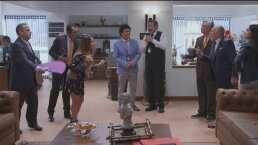 Jessica y Don Justo se pelean por el 'inútil' de Plácido en la oficina