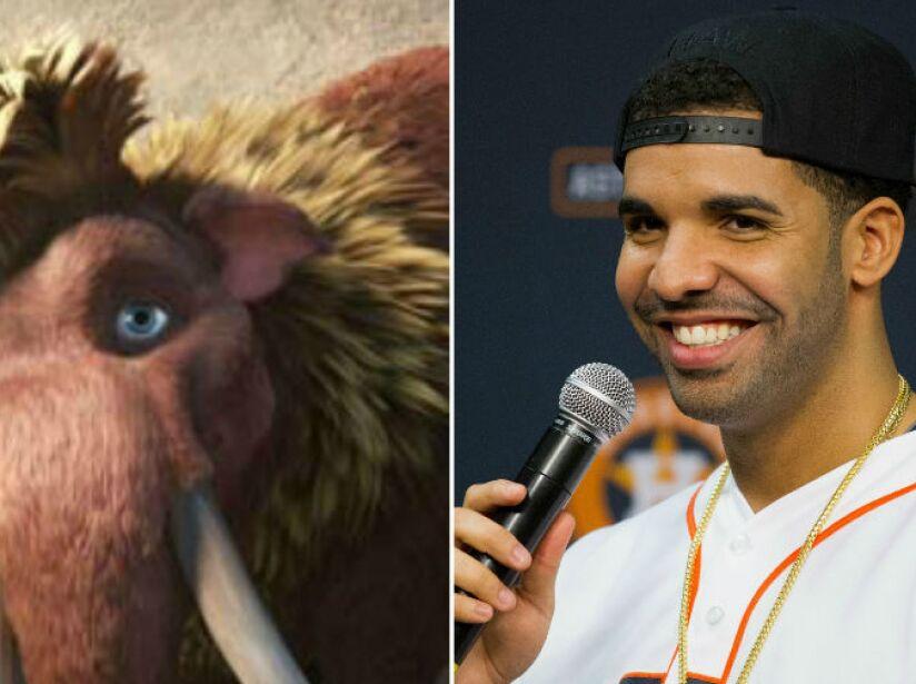 7. Drake: El rapero se unió al elenco de La Era de Hielo como Ethan, un moderno mamut.