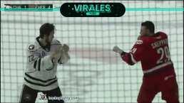 Impresionante KO en el hockey de liga menor