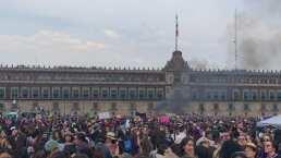 Video: Lanzan bombas durante la marcha del 8 de marzo